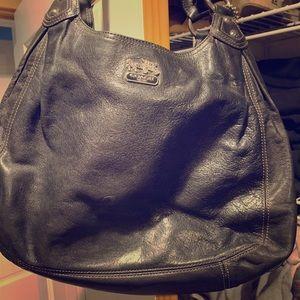 Coach black classic Hobo style purse